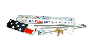 Endura-Nylon U.S. Outdoor Flag Set (Economy)