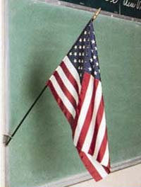 "16"" x 24"" Endura-Poly U.S. Mounted Flag"