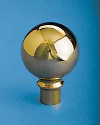"3"" x 4-1/4"" Gold Metal Parade Ball Ornament"