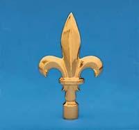 "4-3/4' X 7-3/4"" Gold Metal Fleur de Lis Ornament"