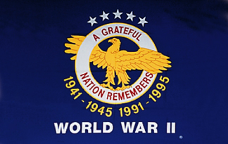 3' x 4'  Nylon Outdoor World War II Veterans Commemorative Flag