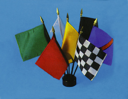 "4"" x 5"" Complete Set Plastic Mounted Auto Racing Flags"