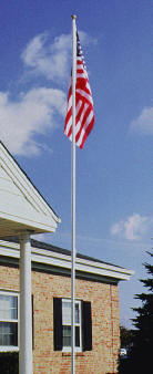 22' White Aluminum Colonial Flagpole
