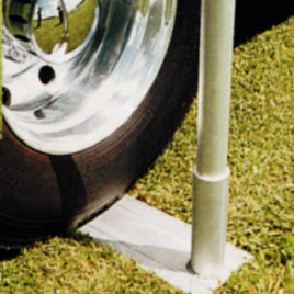 Telescoping Flagpole Aluminum Wheel Mount