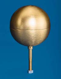 Model SB105 Gold Anodized Aluminum Ball Ornament