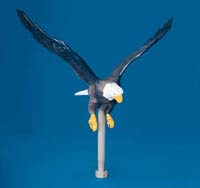 Natural Aluminum Flying Eagle Flagpole Ornament