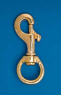 "4 3/4"" Solid Brass Swivel Snap"