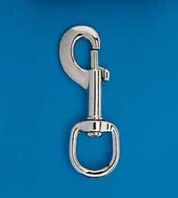 "3 1/2"" Nickel Plated Zinc Swivel Snap"