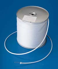 "3/16"" White Nylon Wire Center Flagpole Halyard"