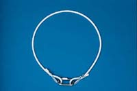 "7"" White Flagpole Rope Retainer Ring"