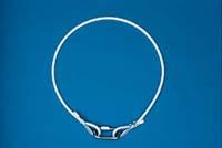 "10-1/2"" White Flagpole Rope Retainer Ring"