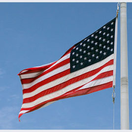 5' x 9 1/2' Poly-Max U.S. Outdoor Flag