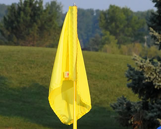 "14"" x 20"" Blank Nylon Tube Style Golf Flag"