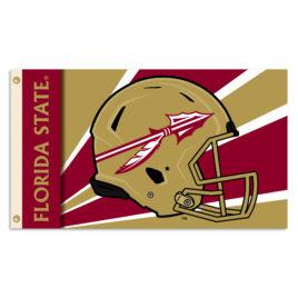 Florida State Seminoles   3 Ft. X 5 Ft. Flag W/Grommets – Helmet Design