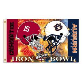 Alabama – Auburn   3 Ft. X 5 Ft. Flag W/Grommets – Helmet House Divided