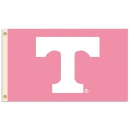 Tennessee Volunteers | 3 Ft. X 5 Ft. Flag W/Grommets – Pink Design