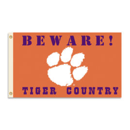 Clemson Tigers | 3 Ft. X 5 Ft. Flag W/Grommets – Country