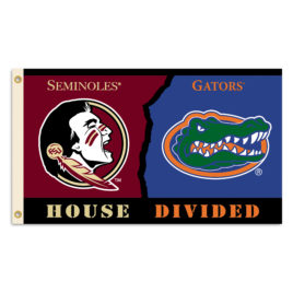 Florida – Florida St. | 3 Ft. X 5 Ft. Flag W/Grommets – Rivalry House Divided