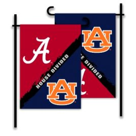 Alabama – Auburn | 2-Sided Garden Flag – Rivalry House Divided