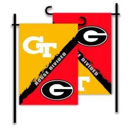 Georgia – Ga. Tech | 2-Sided Garden Flag – Rivalry House Divided