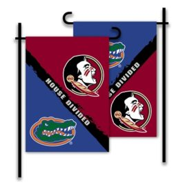 Florida – Florida St. | 2-Sided Garden Flag – Rivalry House Divided