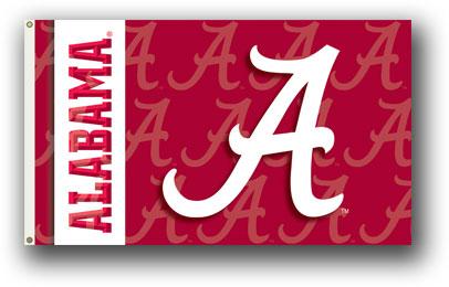 Alabama Crimson Tide   2-Sided 3 Ft. X 5 Ft. Flag W/Grommets