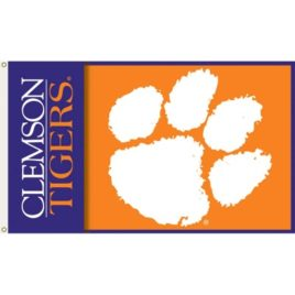 Clemson Tigers | 2-Sided 3 Ft. X 5 Ft. Flag W/Grommets