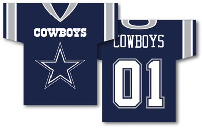 Dallas Cowboys | Jersey Banner 34″ x 30″ – 2-Sided