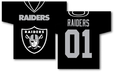 Oakland Raiders | Jersey Banner 34″ x 30″ – 2-Sided