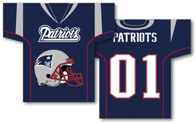 New England Patriots | Jersey Banner 34″ x 30″ – 2-Sided