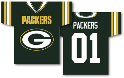 Green Bay Packers | Jersey Banner 34″ x 30″ – 2-Sided
