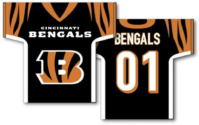 Cincinnati Bengals | Jersey Banner 34″ x 30″ – 2-Sided