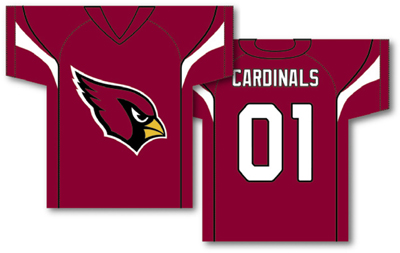 Arizona Cardinals | Jersey Banner 34″ x 30″ – 2-Sided