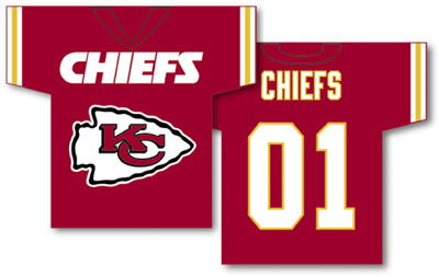 Kansas City Chiefs | Jersey Banner 34″ x 30″ – 2-Sided