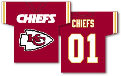 Kansas City Chiefs | Jersey Banner 34″ x 30″ – 2-Sided