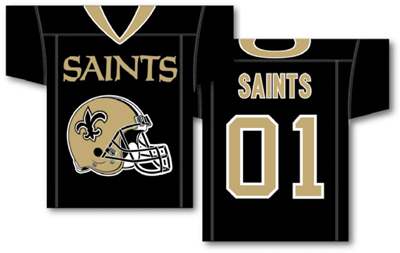 New Orleans Saints | Jersey Banner 34″ x 30″ – 2-Sided