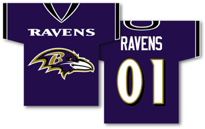 Baltimore Ravens | Jersey Banner 34″ x 30″ – 2-Sided
