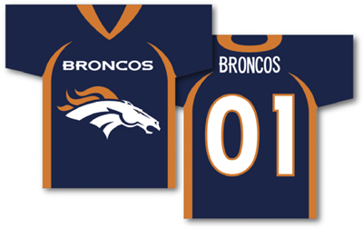 Denver Broncos | Jersey Banner 34″ x 30″ – 2-Sided