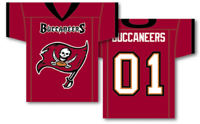 Tampa Bay Bucaneers | Jersey Banner 34″ x 30″ – 2-Sided