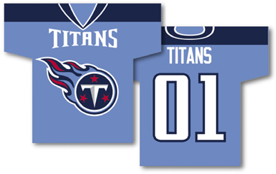 Tennessee Titans | Jersey Banner 34″ x 30″ – 2-Sided