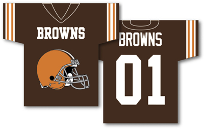 Cleveland Browns | Jersey Banner 34″ x 30″ – 2-Sided