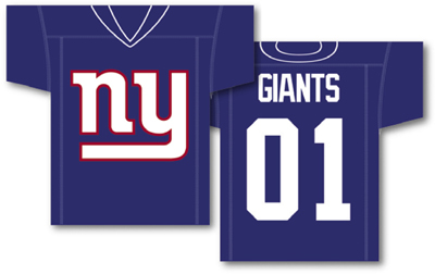 New York Giants | Jersey Banner 34″ x 30″ – 2-Sided