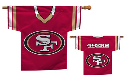 San Francisco 49Ers | Jersey Banner 34″ x 30″ – 2-Sided