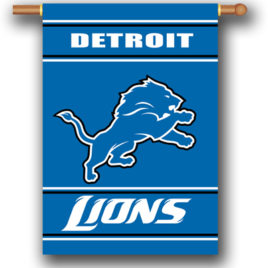 Detroit Lions | 2-Sided 28 X 40 House Banner