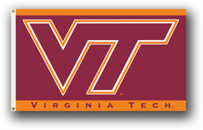 Virginia Tech Hokies | 3 Ft. X 5 Ft. Flag W/Grommets