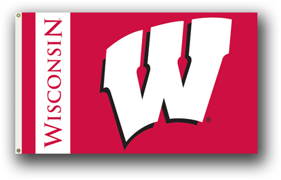 Wisconsin Badgers | 3 Ft. X 5 Ft. Flag W/Grommets