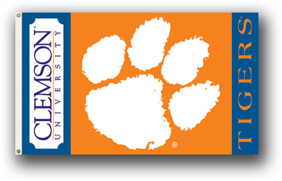Clemson Tigers | 3 Ft. X 5 Ft. Flag W/Grommets