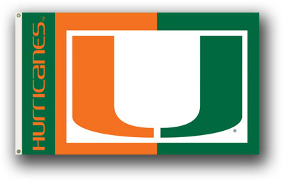 Miami Hurricanes | 3 Ft. X 5 Ft. Flag W/Grommets
