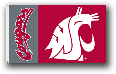 Washington State Cougars | 3 Ft. X 5 Ft. Flag W/Grommets