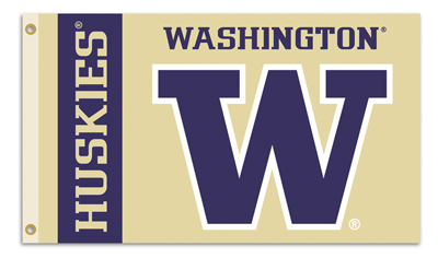 Washington Huskies | 3 Ft. X 5 Ft. Flag W/Grommets